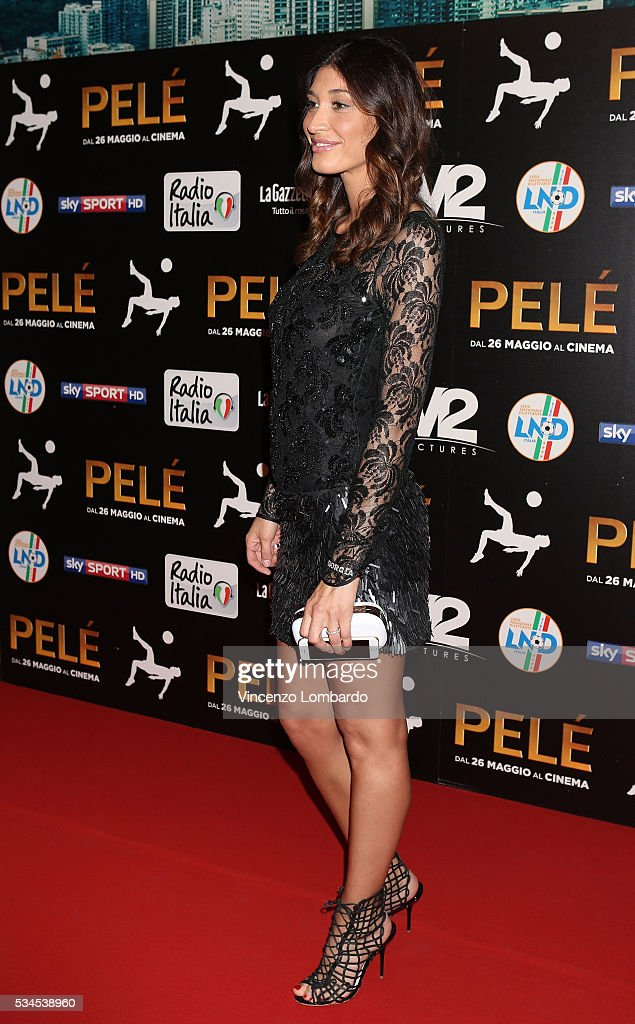 Giorgia Venturini attends the 'Pele' Red Carpet on May 26, 2016 in Milan, Italy.