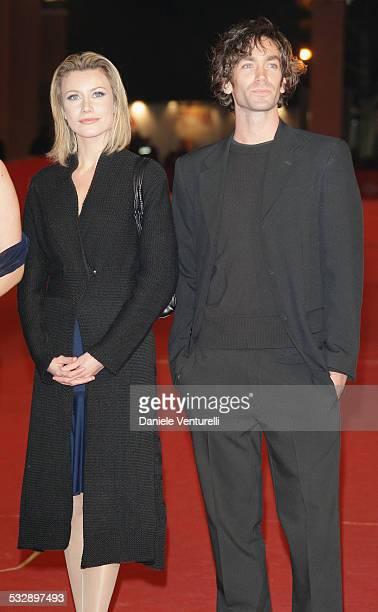 Giorgia Wurth and Giulio Pampiglione attends a premiere for 'L'uomo Privato' during day 7 of the 2nd Rome Film Festival on October 24 2007 in Rome...
