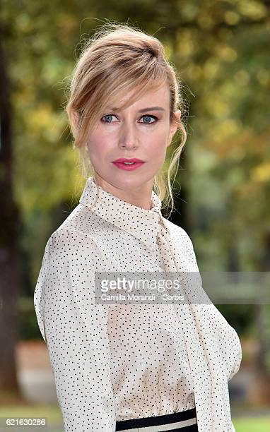 Giorgia Wurth attends the ' Rocco Schiavone' Tv movie photocall on November 7 2016 in Rome Italy