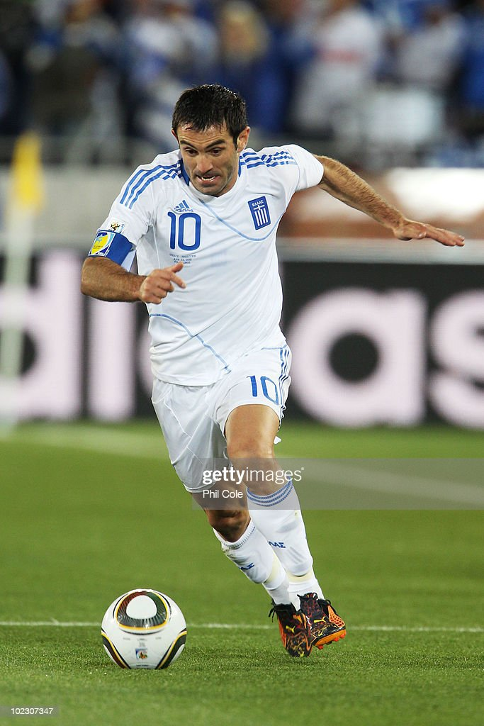 Giorgias Karagounis of Greece during the 2010 FIFA World Cup South Africa Group B match between Greece and Argentina at Peter Mokaba Stadium on June 22, 2010 in Polokwane, South Africa.