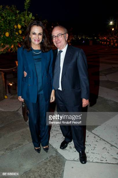 Giorgina Brandolini d'Adda and her brother in law attend the Cini party during the 57th International Art Biennale on May 10 2017 in Venice Italy