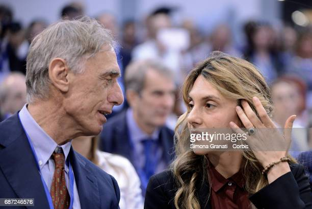 Giorgio Alleva president of ISTAT and Minister Marianna Madia during the inauguration of the Public Administration Forum at the Convention Center La...