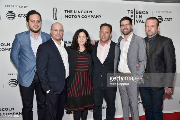Giorgio Angelini Marc Meyers Jody Girgenti Adam Goldworm Michael Merlob and Dallas Roberts attend the 'My Friend Dahmer' Premiere during 2017 Tribeca...