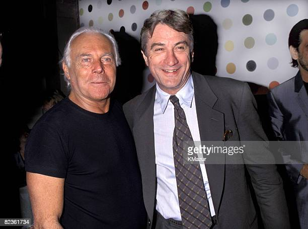 Giorgio Armani and Robert De Niro