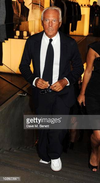 Giorgio Armani attends Fashion's Night Out At Armani on September 8 2010 in London England