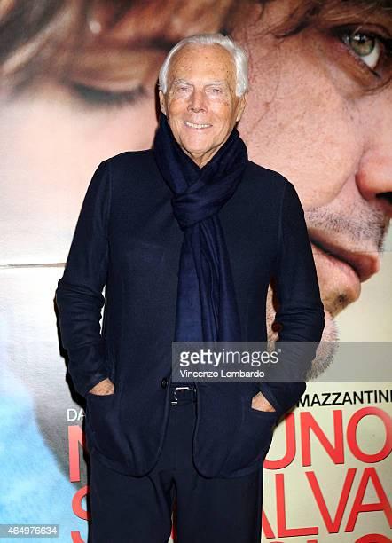 Giorgio Armani attends the 'Nessuno Si Salva Da Solo' Screening in Milan on March 2 2015 in Milan Italy