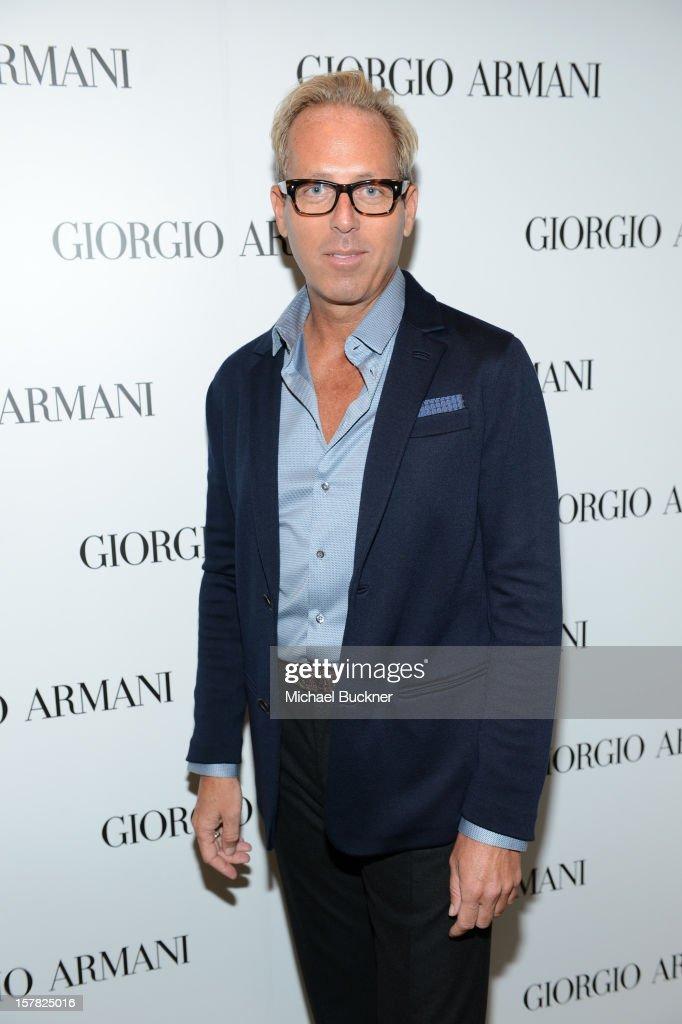 Giorgio Armani Celebrity Make-Up Artist Tim Quinn attend the Giorgio Armani Beauty Luncheon on December 6, 2012 in Beverly Hills, California.