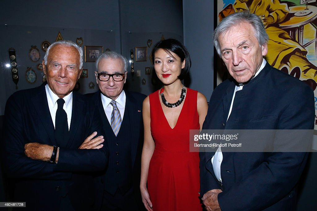 Giorgio Armani, <a gi-track='captionPersonalityLinkClicked' href=/galleries/search?phrase=Martin+Scorsese&family=editorial&specificpeople=201976 ng-click='$event.stopPropagation()'>Martin Scorsese</a>, French Minister of Culture and Communication <a gi-track='captionPersonalityLinkClicked' href=/galleries/search?phrase=Fleur+Pellerin&family=editorial&specificpeople=8784076 ng-click='$event.stopPropagation()'>Fleur Pellerin</a> and Constantin <a gi-track='captionPersonalityLinkClicked' href=/galleries/search?phrase=Costa-Gavras&family=editorial&specificpeople=213531 ng-click='$event.stopPropagation()'>Costa-Gavras</a> attend the Tribute to Director <a gi-track='captionPersonalityLinkClicked' href=/galleries/search?phrase=Martin+Scorsese&family=editorial&specificpeople=201976 ng-click='$event.stopPropagation()'>Martin Scorsese</a> at Cinematheque Francaise on October 13, 2015 in Paris, France.