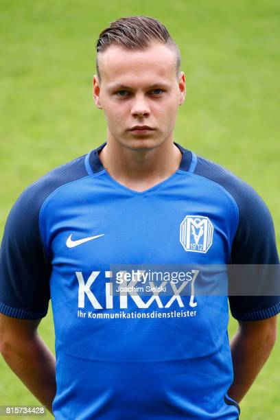 Giorgio Beltau of SV Meppen poses during the official team presentation of SV Meppen at Haensch Arena on July 8 2017 in Meppen Germany