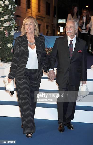 Giorgio Capitani and wife attend 'Mamma Mia' Rome Launch at Teatro Brancaccio on October 13 2011 in Rome Italy