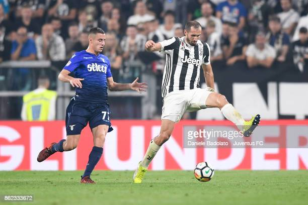 Giorgio Chiellini during the Serie A match between Juventus and SS Lazio on October 14 2017 in Turin Italy