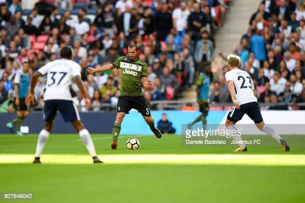 Giorgio Chiellini during the Tottenham Hotspur v Juventus PreSeason Friendly match at Wembley Stadium on August 5 2017 in London England