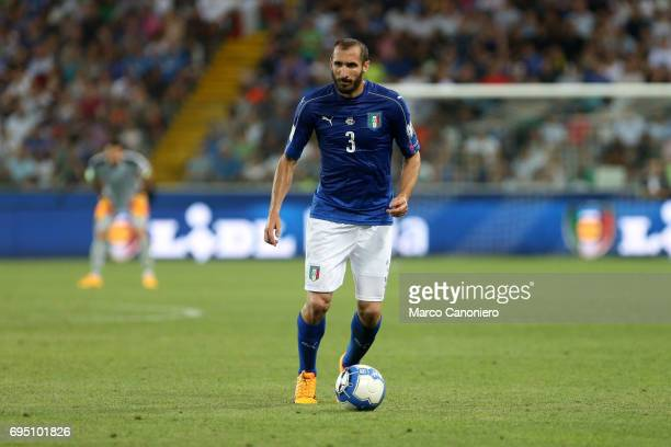 Giorgio Chiellini of Italy during the FIFA 2018 World Cup Qualifier match between Italy and Liechtenstein Italy went on to win the match 50