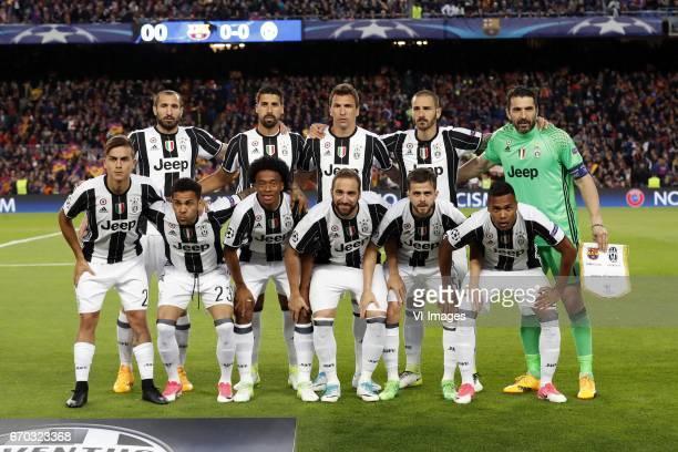 Giorgio Chiellini of Juventus FC Sami Khedira of Juventus FC Mario Mandzukic of Juventus FC Leonardo Bonucci of Juventus FC goalkeeper Gianluigi...