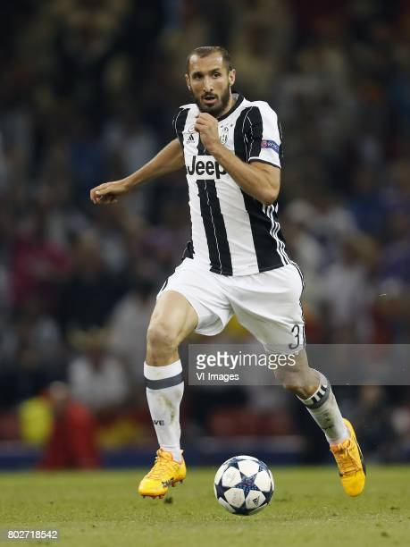 Giorgio Chiellini of Juventus FCduring the UEFA Champions League final match between Juventus FC and Real Madrid on June 3 2017 at the Millennium...