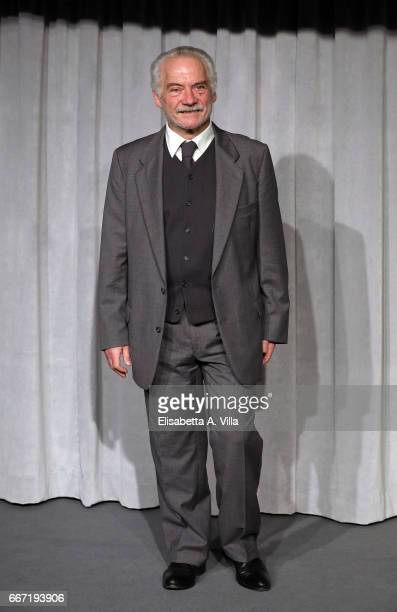 Giorgio Colangeli attends a photocall for 'Tutto Puo' Succedere' at Rai Via Asiago on April 11 2017 in Rome Italy
