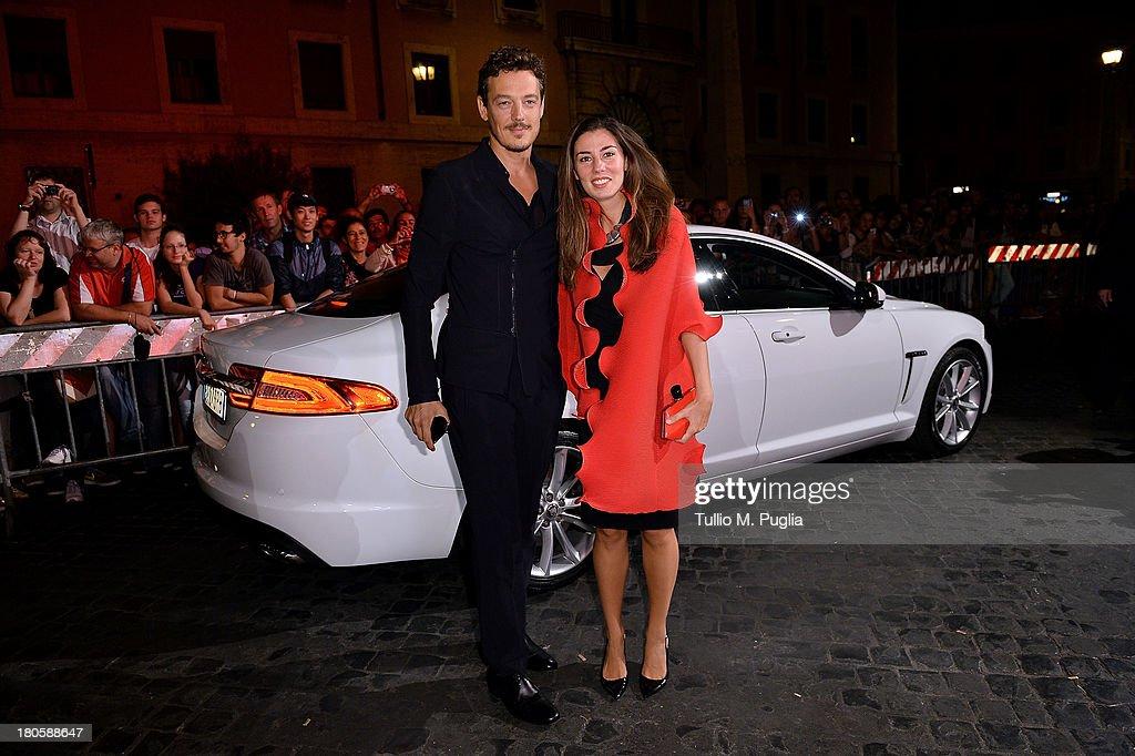 Giorgio Lupano and Erica Banchi attend 'Rush' The Movie Rome Premiere at Auditorium della Conciliazione on September 14, 2013 in Rome, Italy.