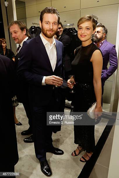 Giorgio Marchesi ad Valeria Bilello attend the Hugo Boss Store Opening during the 9th Rome Film Festival on October 23 2014 in Rome Italy