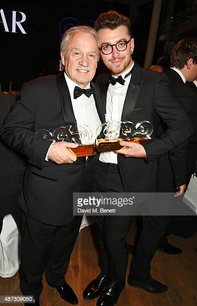 Giorgio Moroder and Sam Smith attend the GQ Men Of The Year Awards after party at The Royal Opera House on September 8 2015 in London England