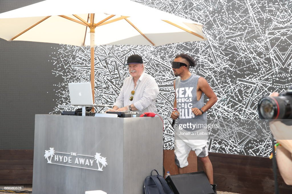 DJ Giorgio Moroder performs during The Hyde Away, hosted by Republic Records & SBE, presented by Hudson and bareMinerals during Coachella on April 15, 2017 in Thermal, California.