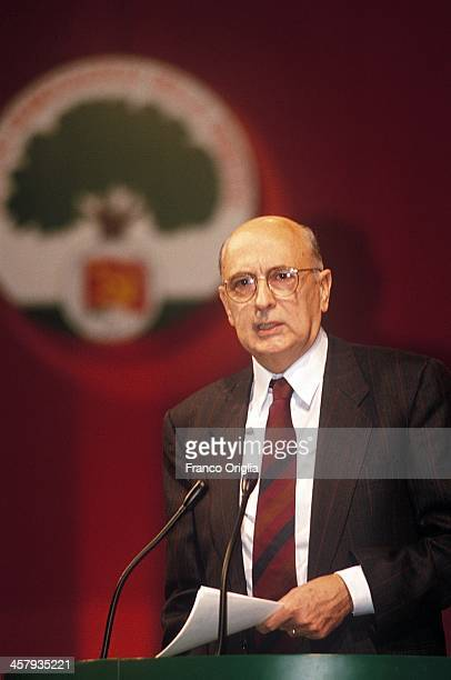 Giorgio Napolitano attends the last congress of the PCI Communist Party inaugurating the birth of the PDS Democratic Party on February 3 1991 in...