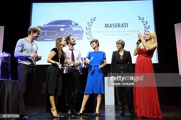 Giorgio Pasotti Fabio Troiano Camila Raznovich Alessandra Mastronardi Giulia Bongiorno and Michelle Hunziker attend 'Un'Altra Storia' Charity Event...