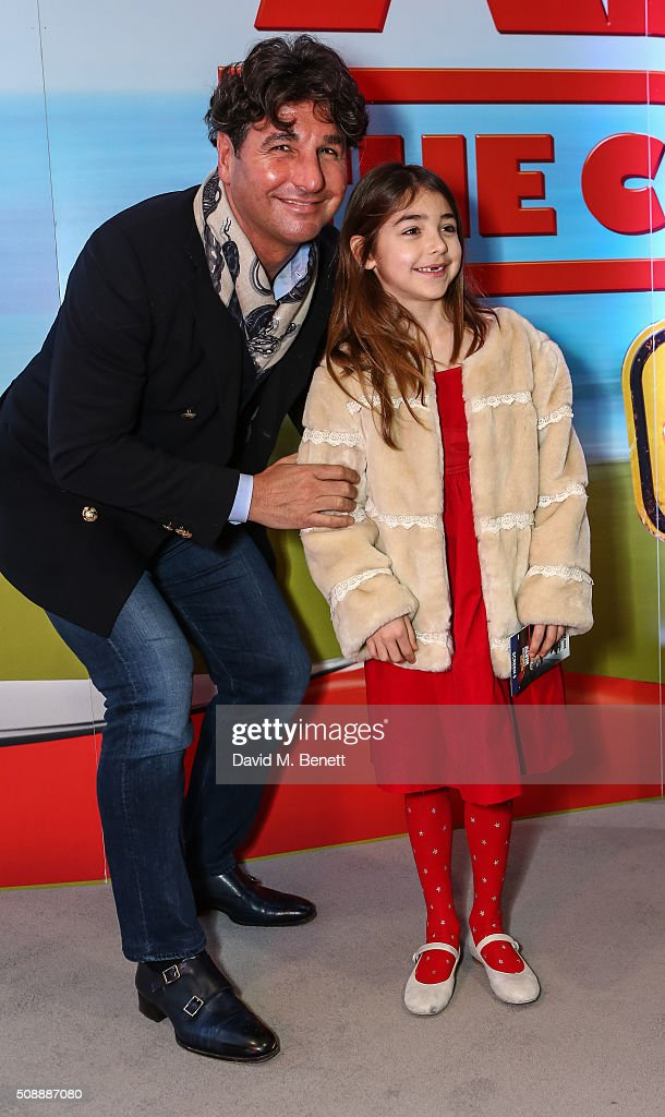 <a gi-track='captionPersonalityLinkClicked' href=/galleries/search?phrase=Giorgio+Veroni&family=editorial&specificpeople=570237 ng-click='$event.stopPropagation()'>Giorgio Veroni</a> and daughter attend a Gala Screening of 'Alvin & The Chipmunks: The Road Chip' at Vue West End on February 7, 2016 in London, England.