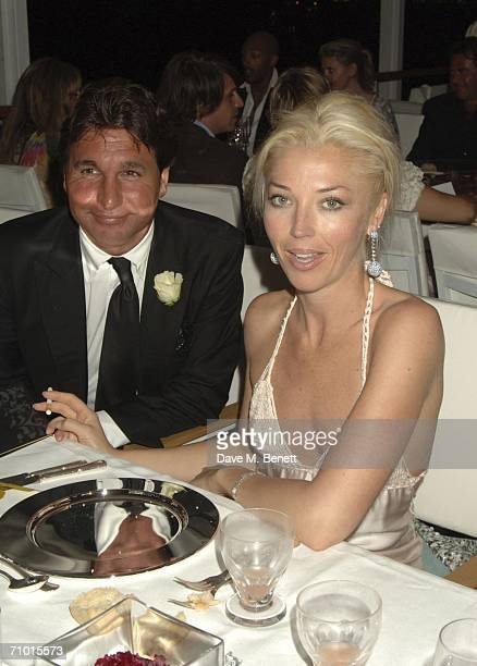 Giorgio Veroni and socilaite Tamara Beckwith attends the annual De Grisogono party hosted by the Swissbased jewellery house at Hotel Du Cap on May 22...
