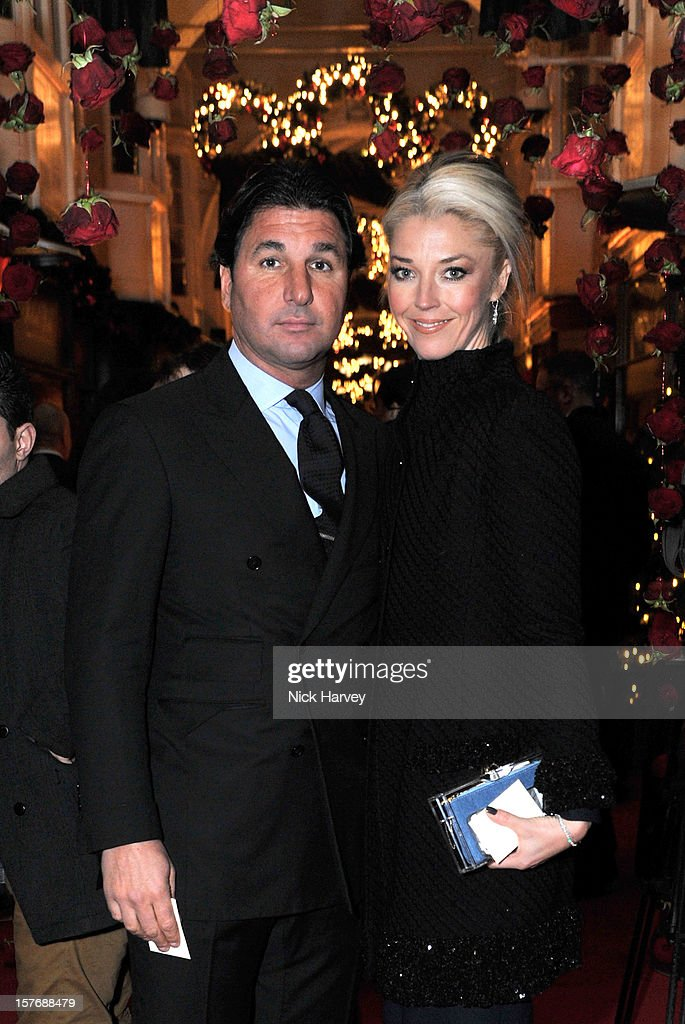 Giorgio Veroni and Tamara Beckwith attend a dinner at Burlington Arcade after the flagship store launch of Salvatore Ferragamo's Old Bond Street Boutique at 24 Old Bond Street on December 5, 2012 in London, England.