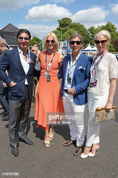 Giorgio Veroni Valeria Mazza Alejandro Gravier and Tamara Beckwith attend Day One at the 2015 FIA Formula E Visa London ePrix at Battersea Park on...