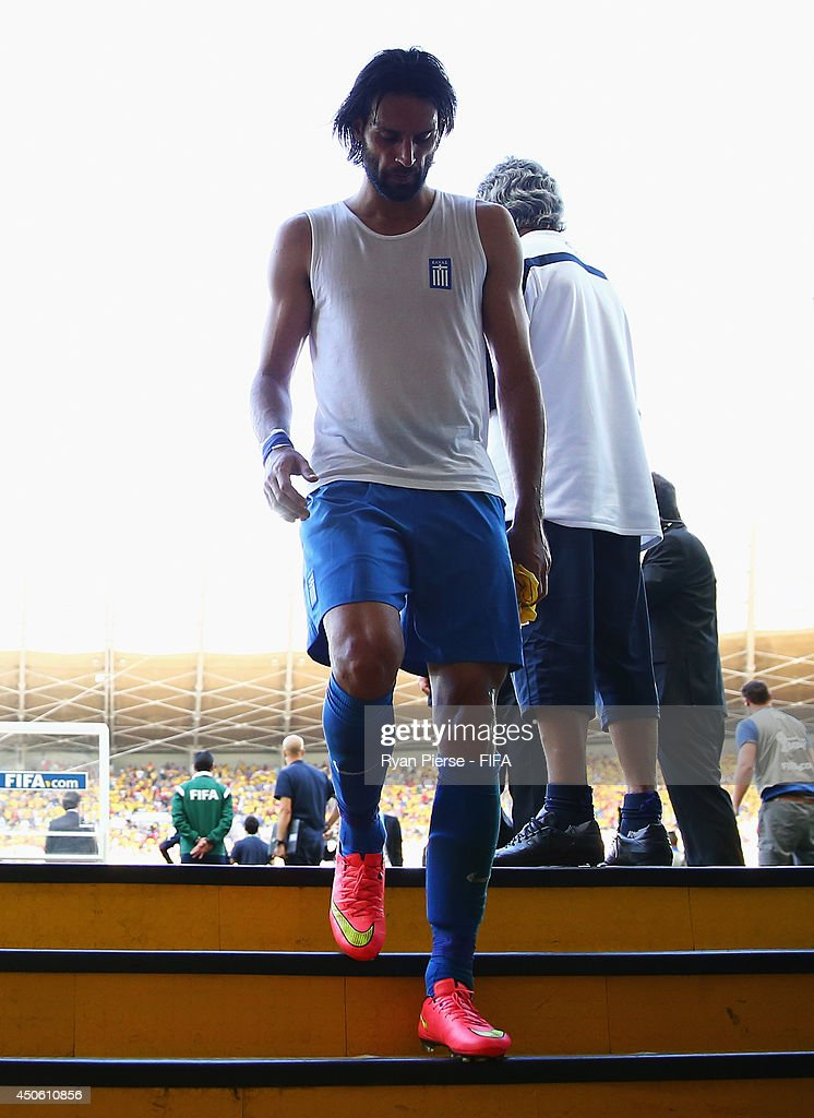 Giorgos Samaras of Greece leaves the pitch after the 2014 FIFA World Cup Brazil Group C match between Colombia and Greece at Estadio Mineirao on June 14, 2014 in Belo Horizonte, Brazil.