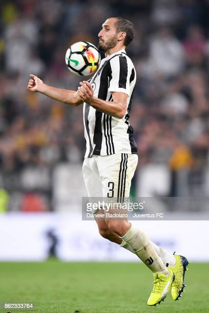 Giorgrio Chiellini during the Serie A match between Juventus and SS Lazio on October 14 2017 in Turin Italy