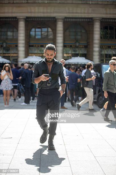 Giotto Calendoli at the Louis Vuitton show during Paris Men's Fashion Week SS17 on June 23 2016 in Paris France