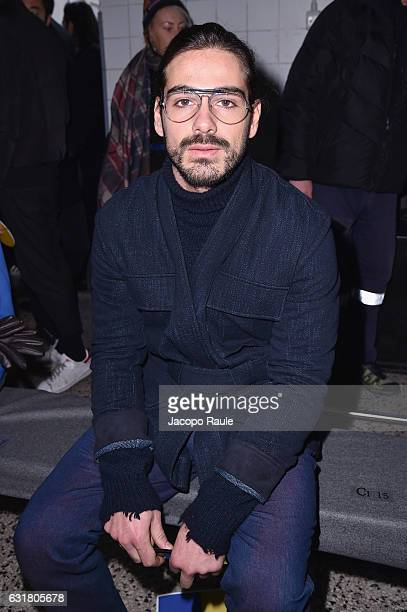 Giotto Calendoli attends the Cedric Charlier show during Milan Men's Fashion Week Fall/Winter 2017/18 on January 16 2017 in Milan Italy
