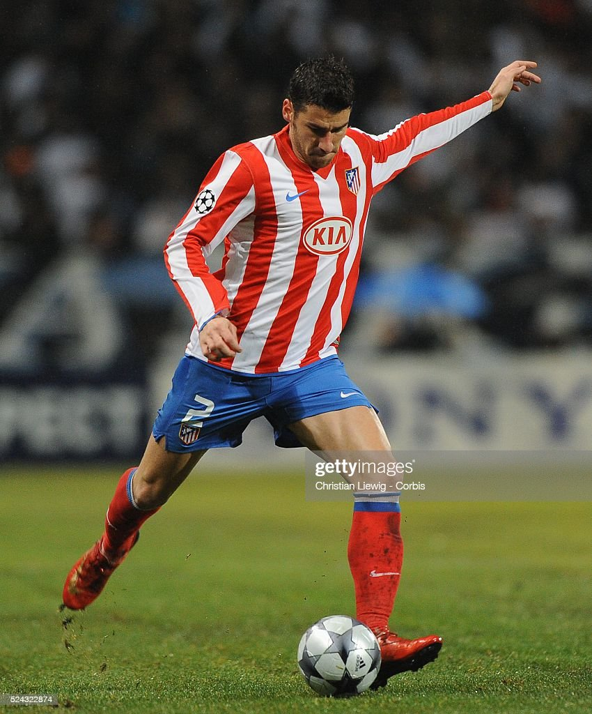 Giourkas Seitaridis during the 20082009 UEFA Champions League soccer match between Olympique de Marseille and Atletico Madrid