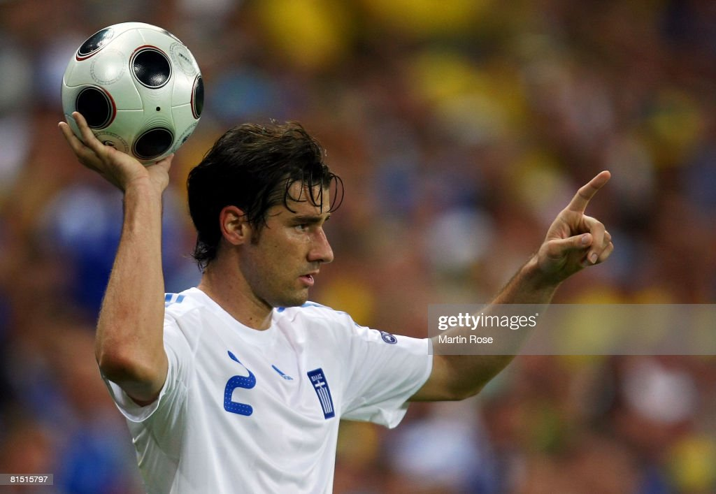 Giourkas Seitaridis of Greece is pictured during the UEFA EURO 2008 Group D match between Greece and Sweden at Stadion WalsSiezenheim on June 10 2008...