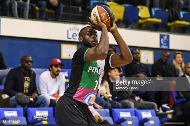 Giovan Oniangue of Boulazac during the Pro A match between Levallois Metropolitans and Boulazac at Salle Marcel Cerdan on October 21 2017 in Paris...