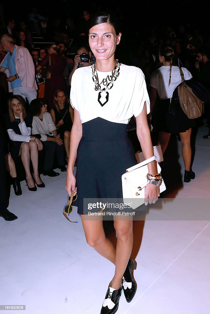 Giovana Battaglia attends Nina Ricci show as part of the Paris Fashion Week Womenswear Spring/Summer 2014, held at Garden of Tuilleries on September 26, 2013 in Paris, France.