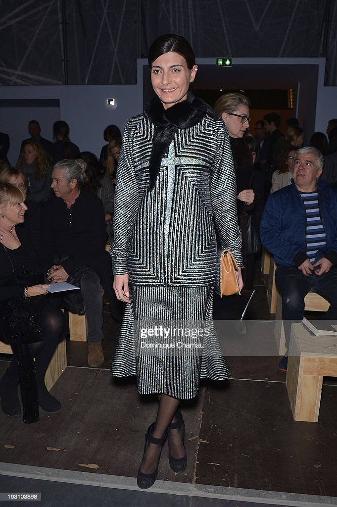 Giovana Battaglia attends the Saint Laurent Fall/Winter 2013 Ready-to-Wear show as part of Paris Fashion Week on March 4, 2013 in Paris, France.