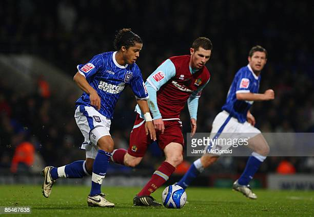 Giovani Dos Santos of Ipswich runs with the ball during the CocaCola Championship match between Ipswich Town and Burnley at Portman Road on March 17...