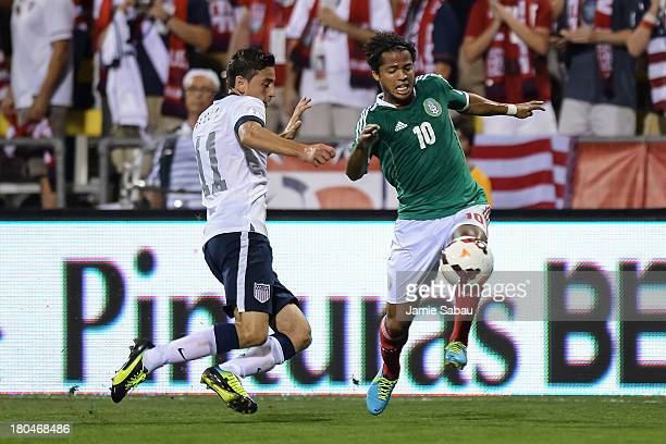Giovani dos Santos of the Mexico Men's National Team in action against the United States at Columbus Crew Stadium on September 10 2013 in Columbus...