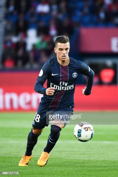 Giovani Lo Celso of PSG during the Ligue 1 match between Paris SaintGermain and SM Caen at Parc des Princes on May 20 2017 in Paris France