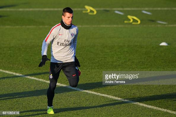 Giovani Lo Celso of PSG during the Training Session of Paris Saint Germain at Camp des Loges on January 6 2017 in Saint Germain en Laye