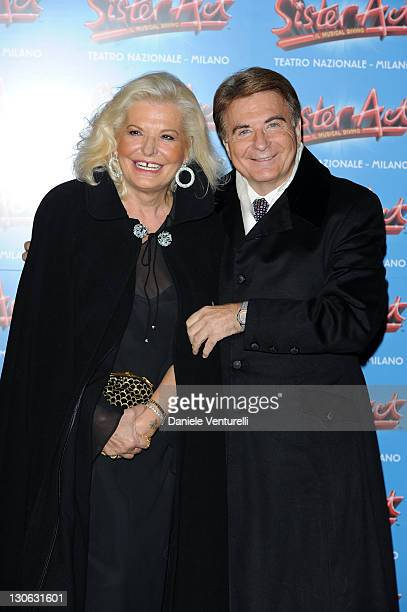 Giovanna and Paolo Limiti attend the 'Sister Act' Theatre Premiere At The Teatro Nazionale on October 27 2011 in Milan Italy