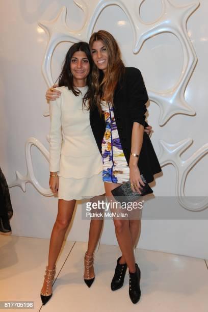 Giovanna Bataglia and Bianca Brandolini attend Carlos Miele and Vogue Italia Celebrate Limited Edition of TShirts Designed by Lapo Elkann and Bianca...