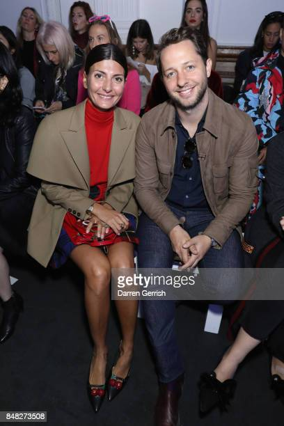 Giovanna Battaglia and Derek Blasberg attend the Anya Hindmarch show during London Fashion Week September 2017 on September 17 2017 in London England