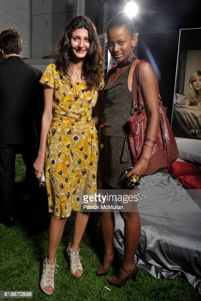 Giovanna Battaglia and Eyeru Salem Girma attend FERRAGAMO Launches ATTIMO On The Top of The Standard at The Standard on June 30 2010 in New York City