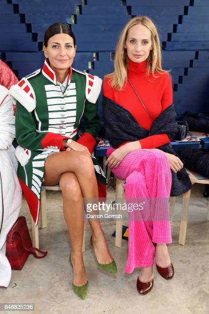 Giovanna Battaglia and Lauren Santo Domingo attend the Roksanda show during London Fashion Week September 2017 on September 18 2017 in London England