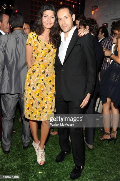Giovanna Battaglia and Massimiliano Giornetti attend SALVATORE FERRAGAMO ATTIMO Launch Event at The Standard Hotel on June 30 2010 in New York City