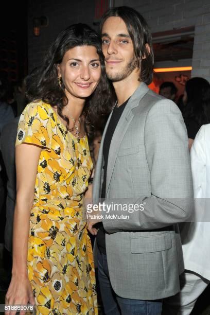 Giovanna Battaglia and Vladimir RestoinRoitfeld attend SALVATORE FERRAGAMO ATTIMO Launch Event at The Standard Hotel on June 30 2010 in New York City